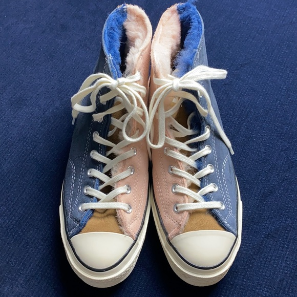 CONVERSE CHUCK 70 GENUINE SHEARLING LINED SNEAKERS